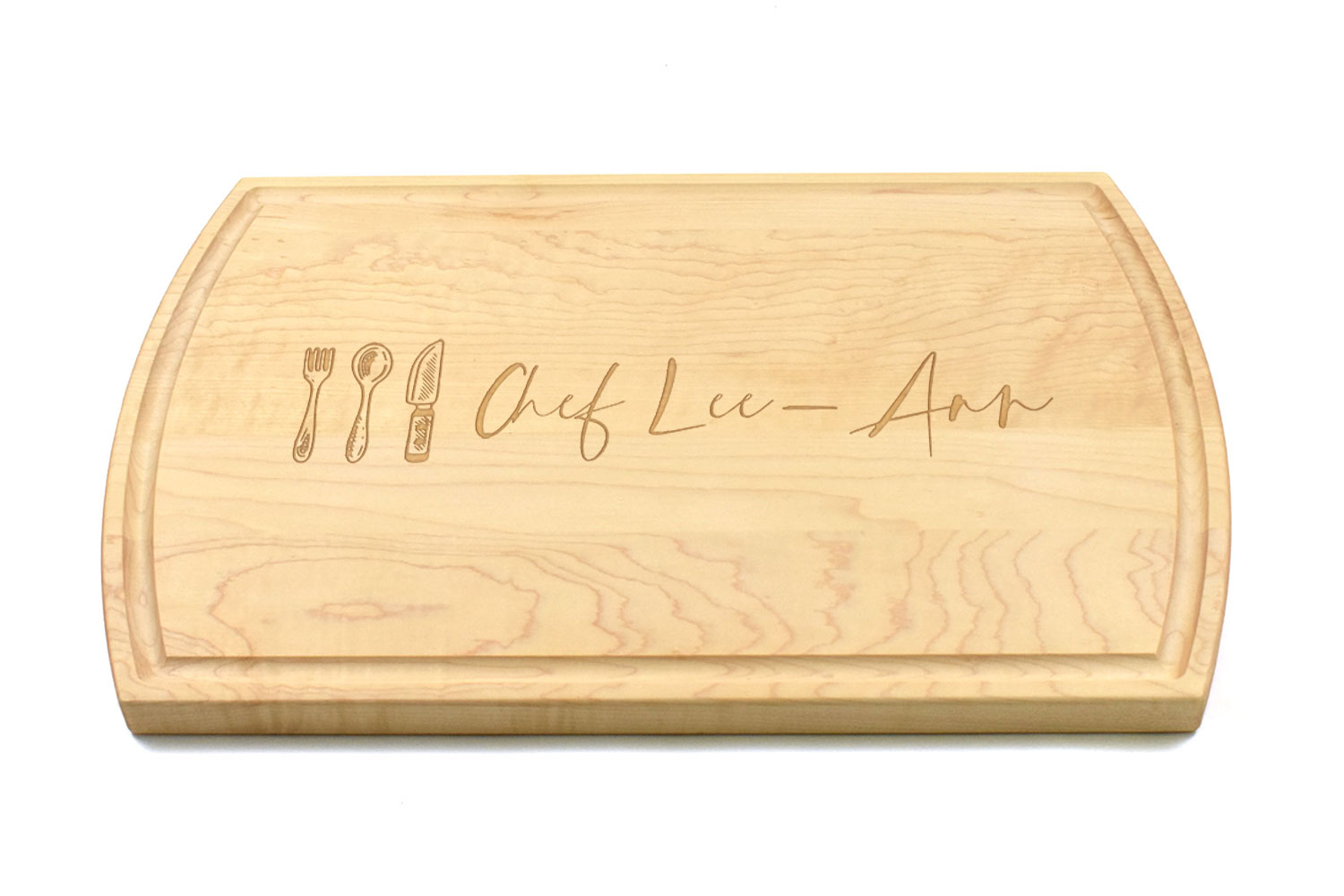 Large Canadian Made Maple Wood Cutting Board, Personalised Engraving