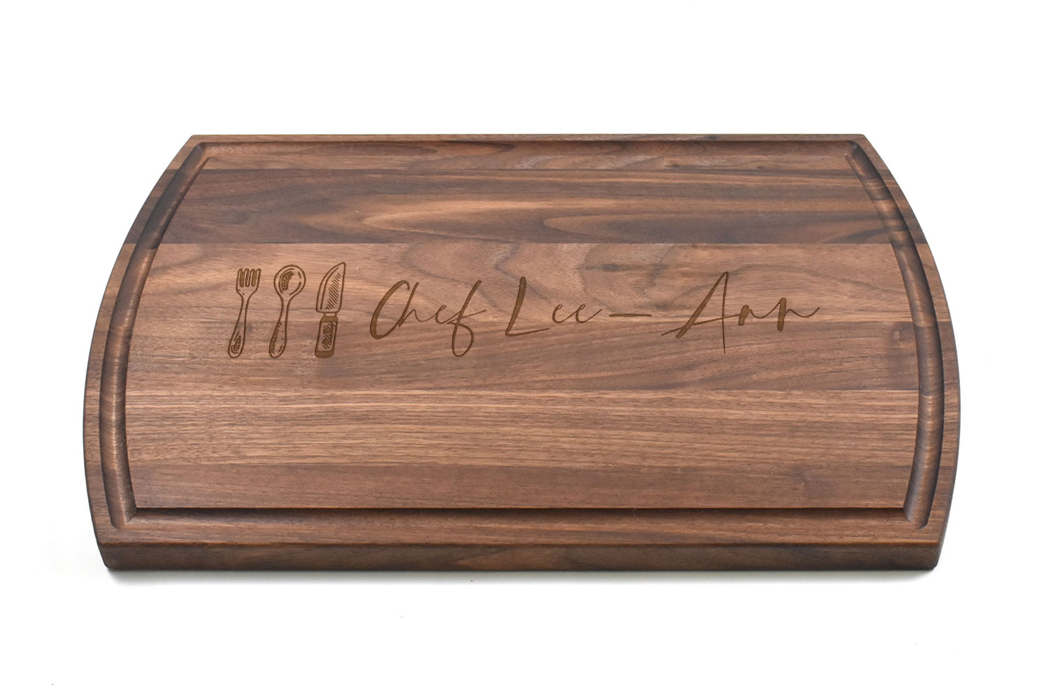 Large Canadian Made Walnut Wood Cutting Board, Personalised Engraving