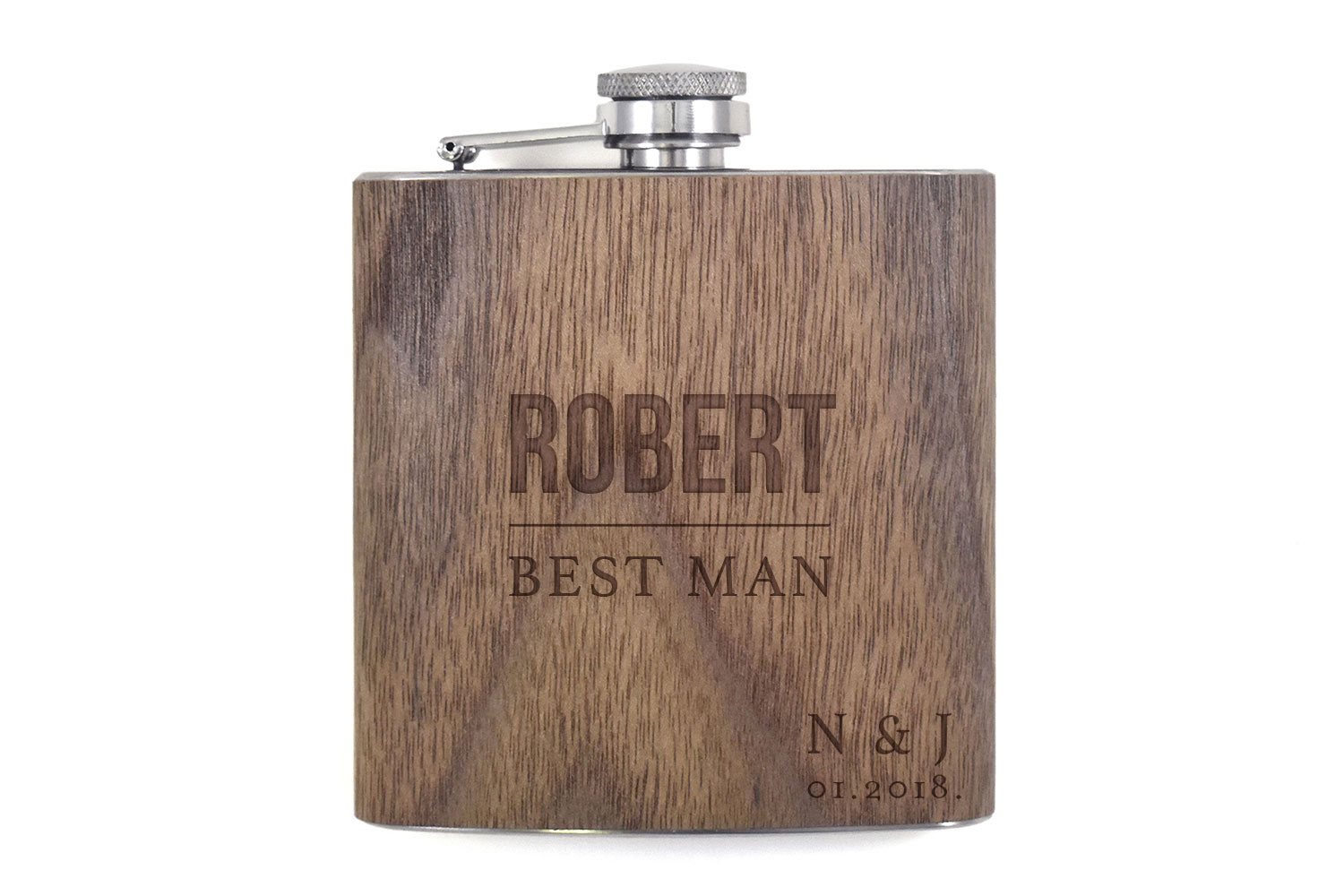 Wooden Flask 6oz.